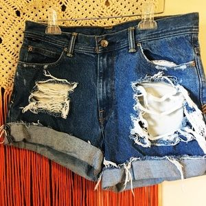 Urban Outfitters BDG Custom Made Distressed Shorts